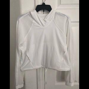 Lululemon Catch a Breeze crop hoodie 4 XS white